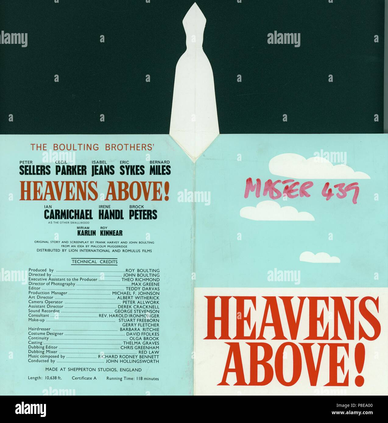 Heavens Above (1963)     Date: 1963 - Stock Image
