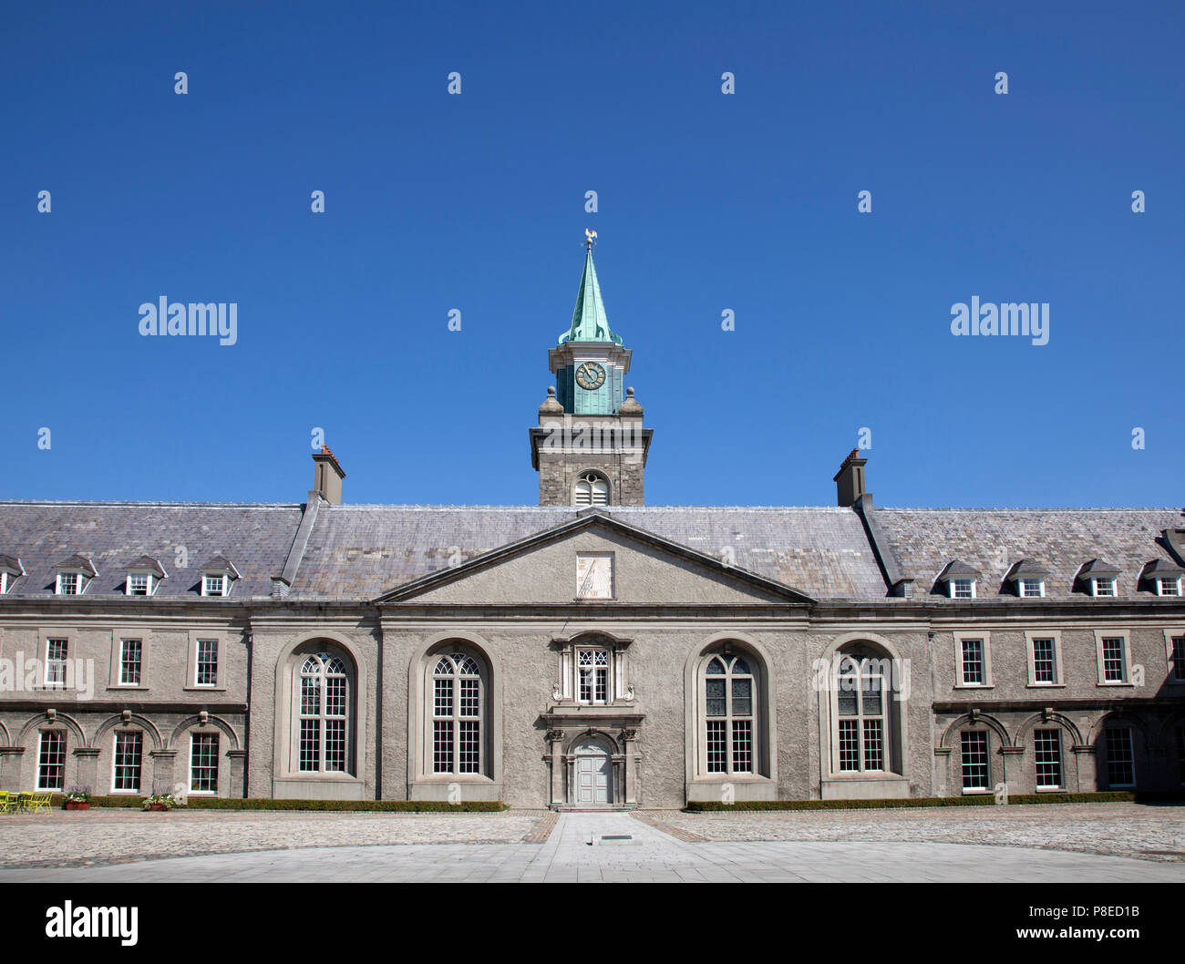 The clock tower of the Royal Hospital, Kilmainham, Dublin, now home to the Irish Museum of Modern Art - Stock Image