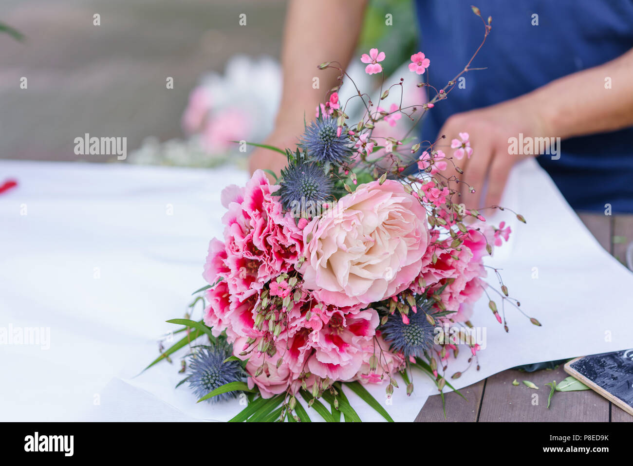 Creating The Bouquet Stock Photos & Creating The Bouquet Stock ...