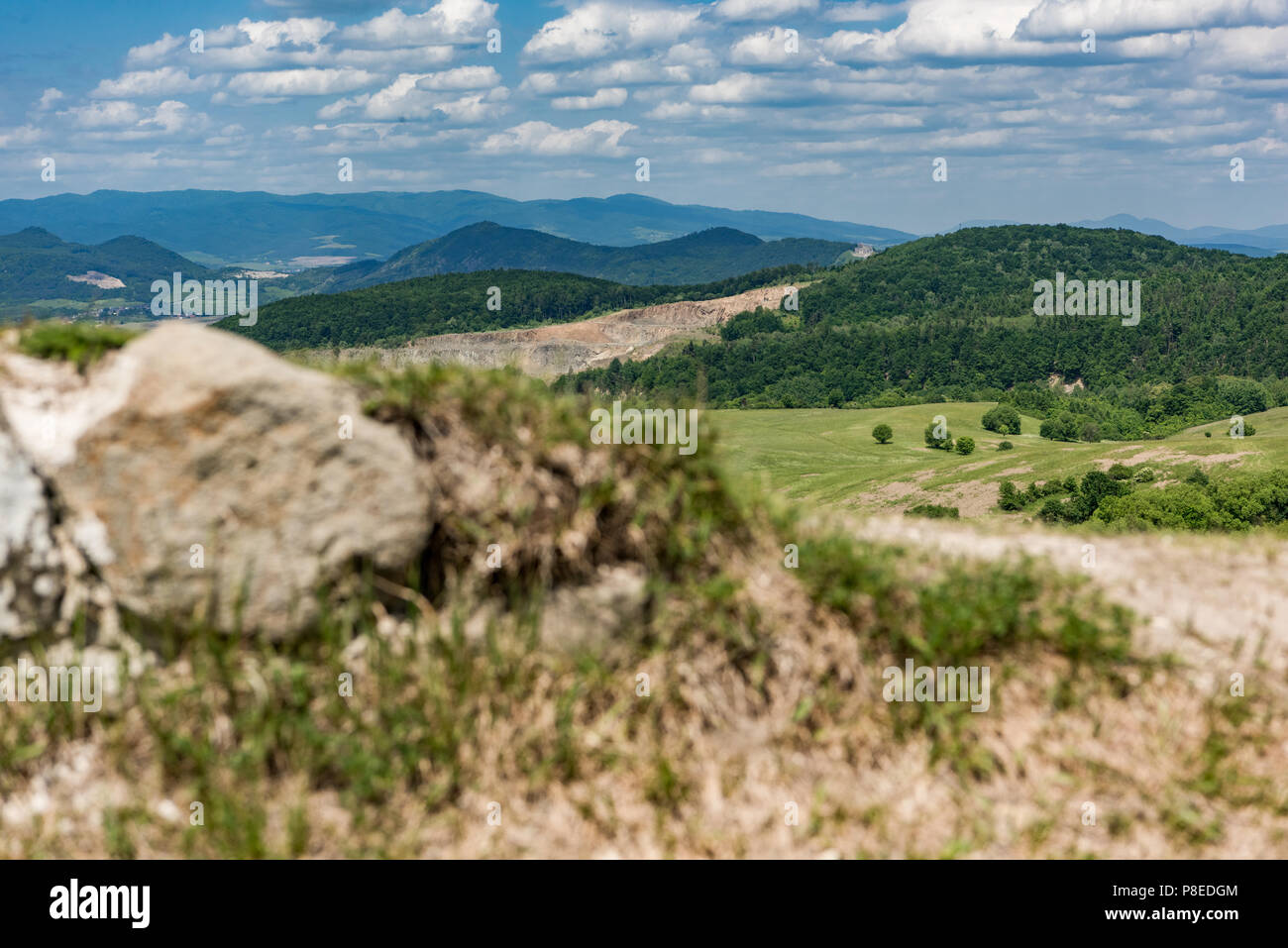 view on the mountains from the castle sebes stock photo 211759652
