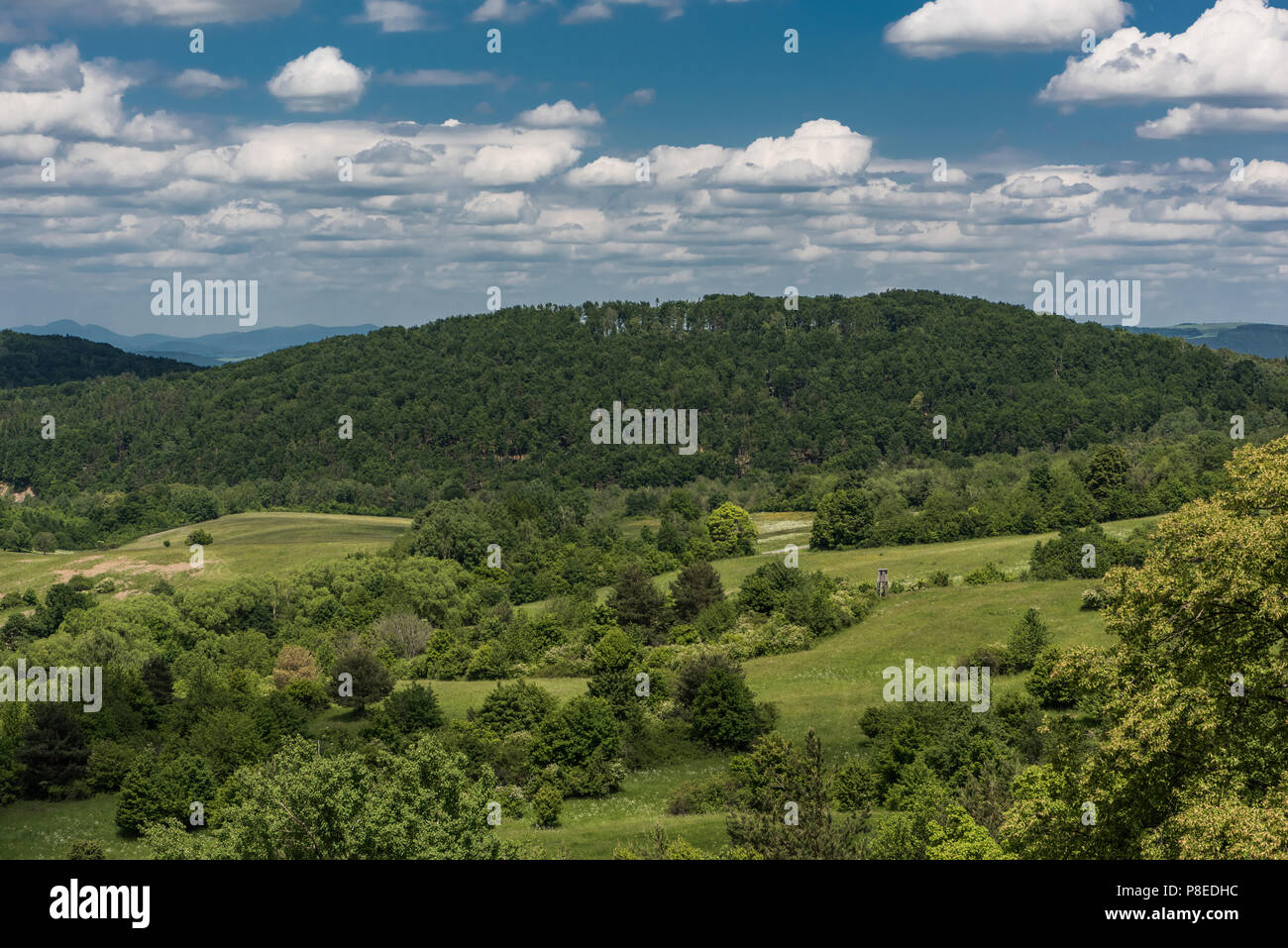 view on the mountains from the castle sebes stock photo 211759672