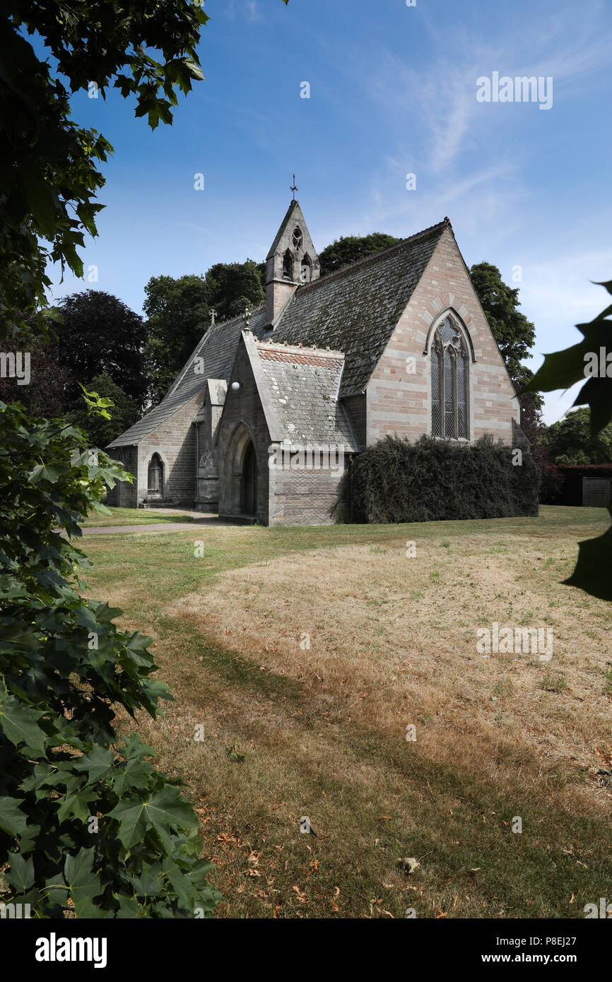 Etal Church on the Ford and Etal estate, Northumberland Stock Photo
