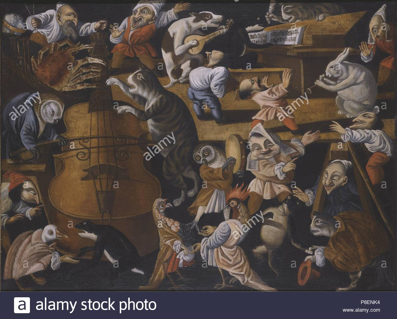 A concert of animals, birds and stylised figures. Museum: PRIVATE COLLECTION. - Stock Image