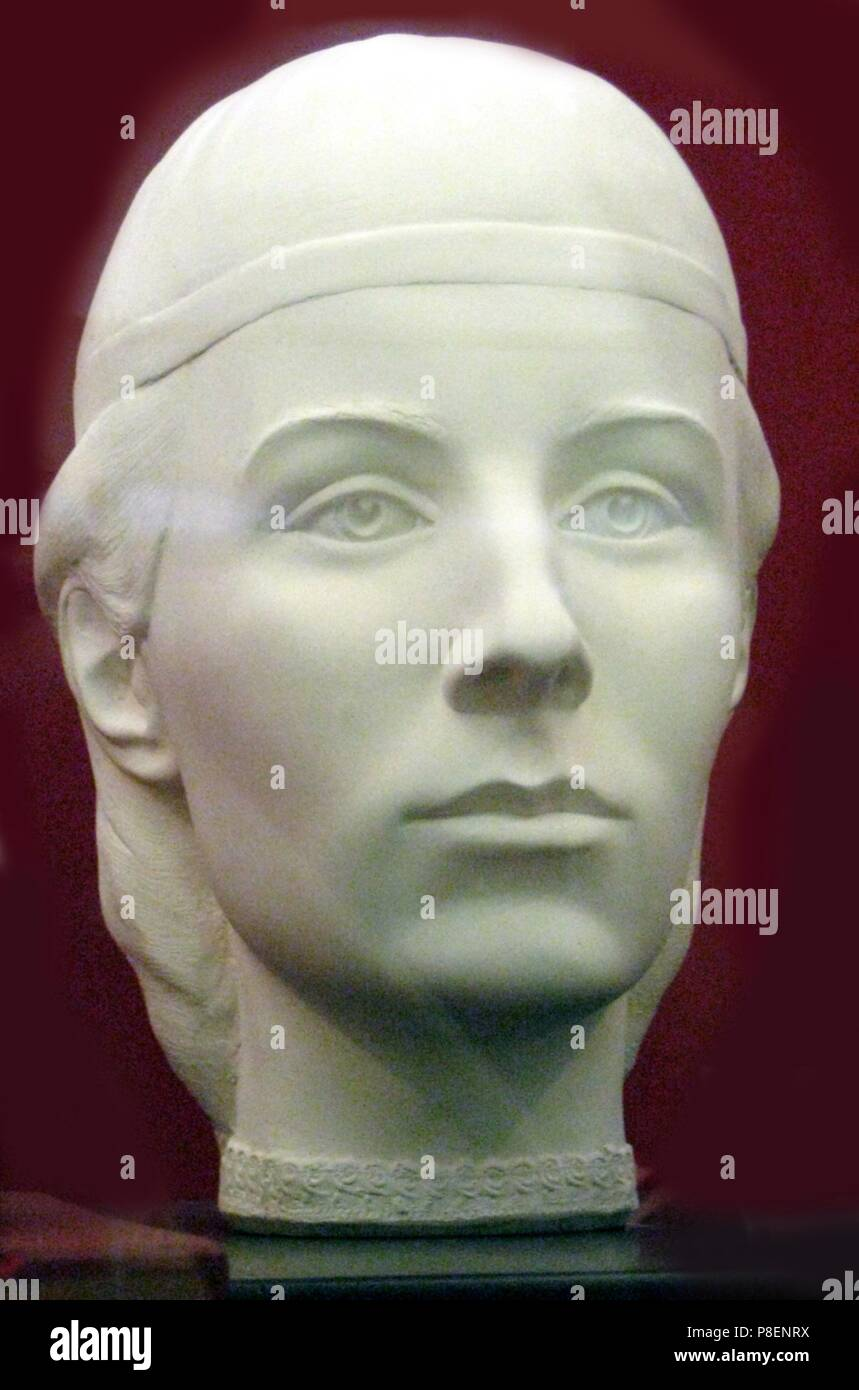 Elena Glinskaya, Mother of Tsar Ivan the Terrible (Forensic facial reconstruction). Museum: State United Museum Centre in the Kremlin, Moscow. - Stock Image