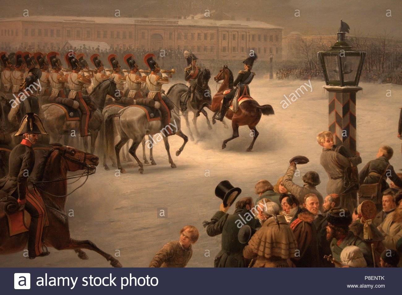 Decembrist uprising on Senate Square in 1825 45