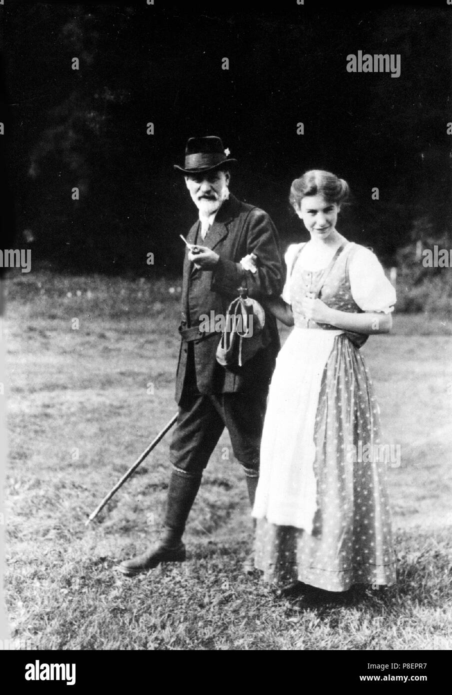 Sigmund and Anna Freud in the Dolomites. Museum: PRIVATE COLLECTION. - Stock Image