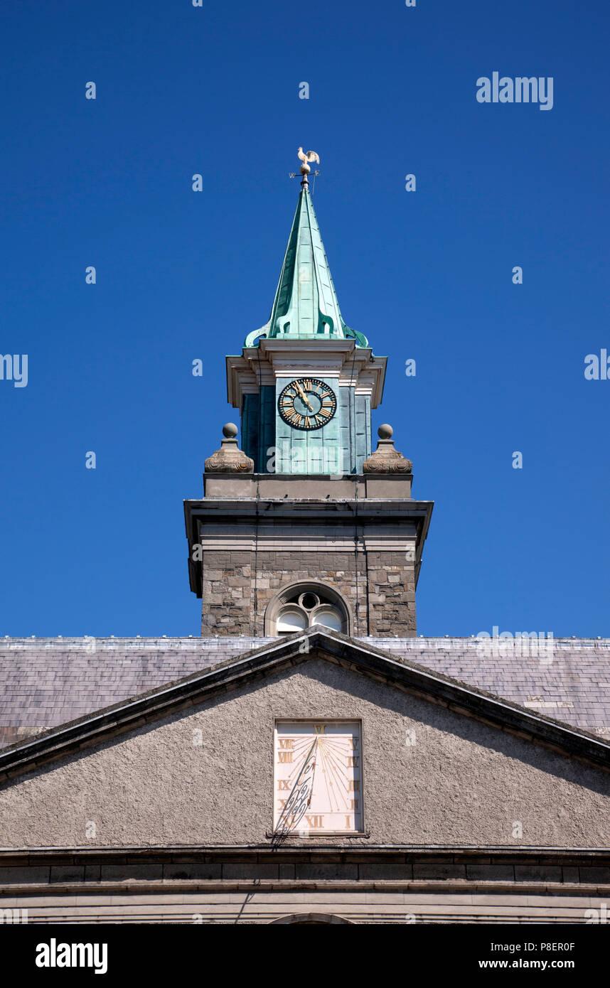 Clock tower of the Royal Hospital, Kilmainham, Dublin, now home to the Irish Museum of Art - Stock Image