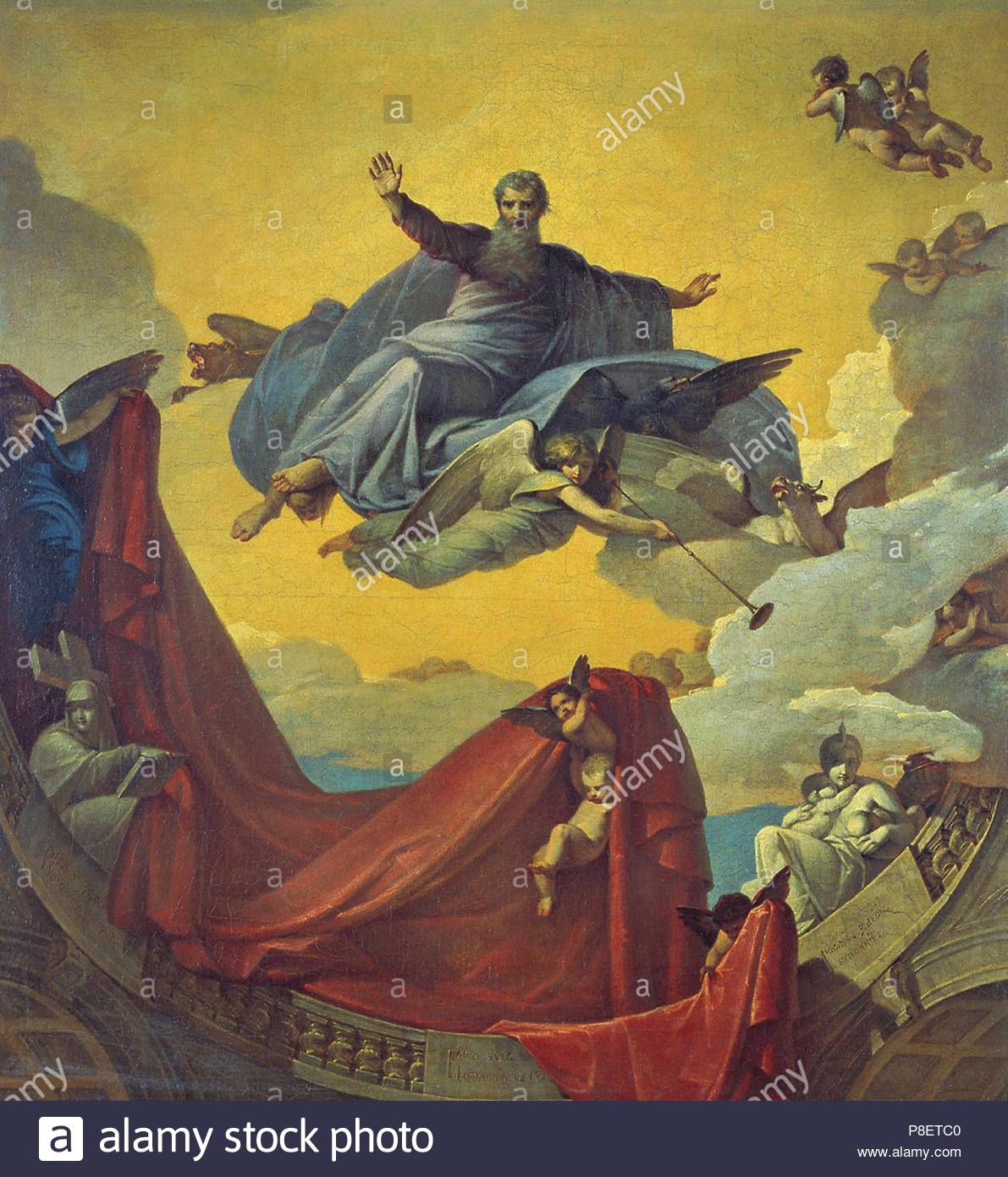 The Vision of the Prophet Ezekiel. Museum: State Tretyakov Gallery, Moscow. - Stock Image