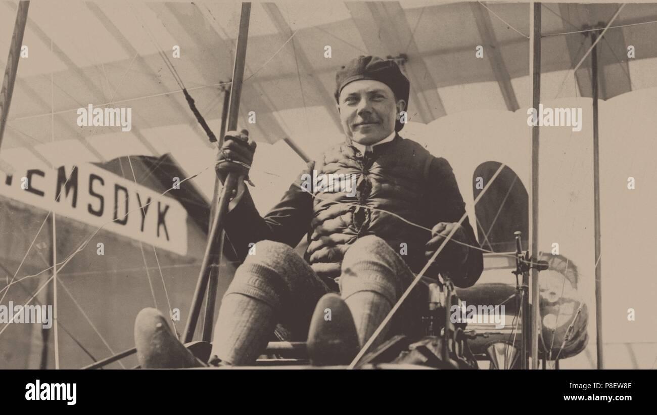 Sergei Isayevich Utochkin (1876-1915). Museum: Russian State Military History Archive. - Stock Image
