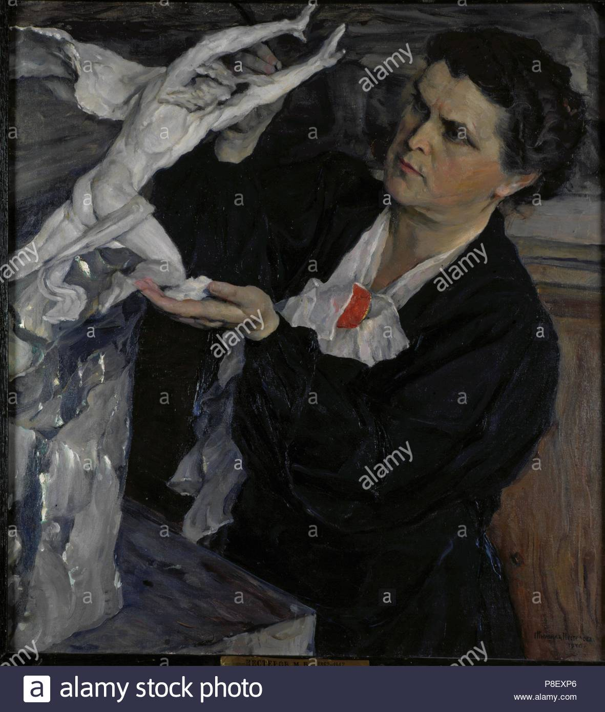 Portrait of the sculptor Vera Mukhina (1889-1953). Museum: State Tretyakov Gallery, Moscow. - Stock Image