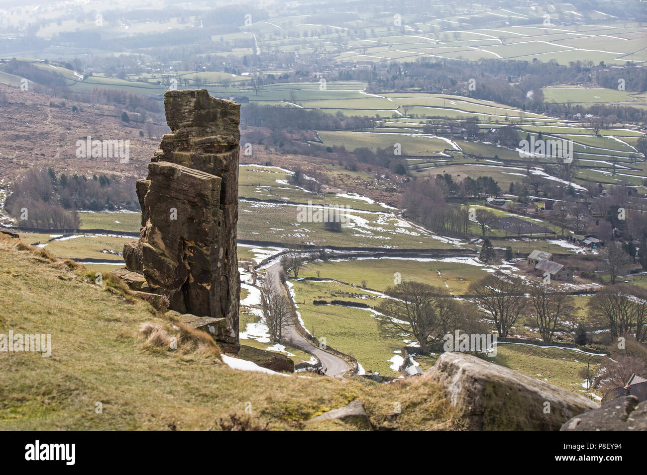 Curbar Edge, Derbyshire Peak District, UK - Stock Image