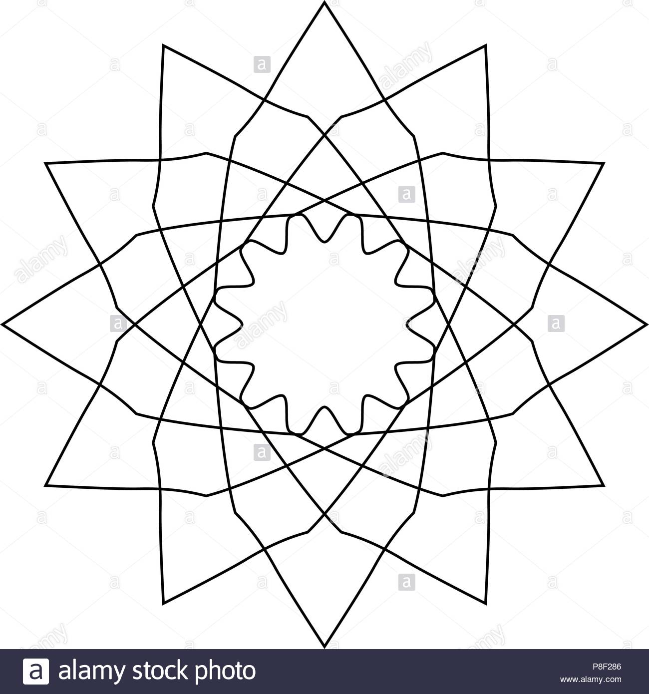 Geometric logo or symbol for decoration, vector illustration Stock Vector