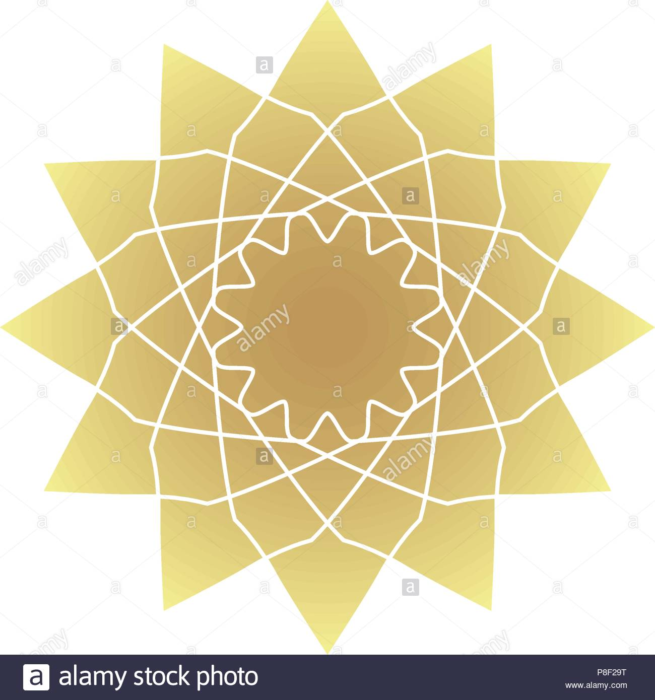 Circular geometric ornament Stock Vector