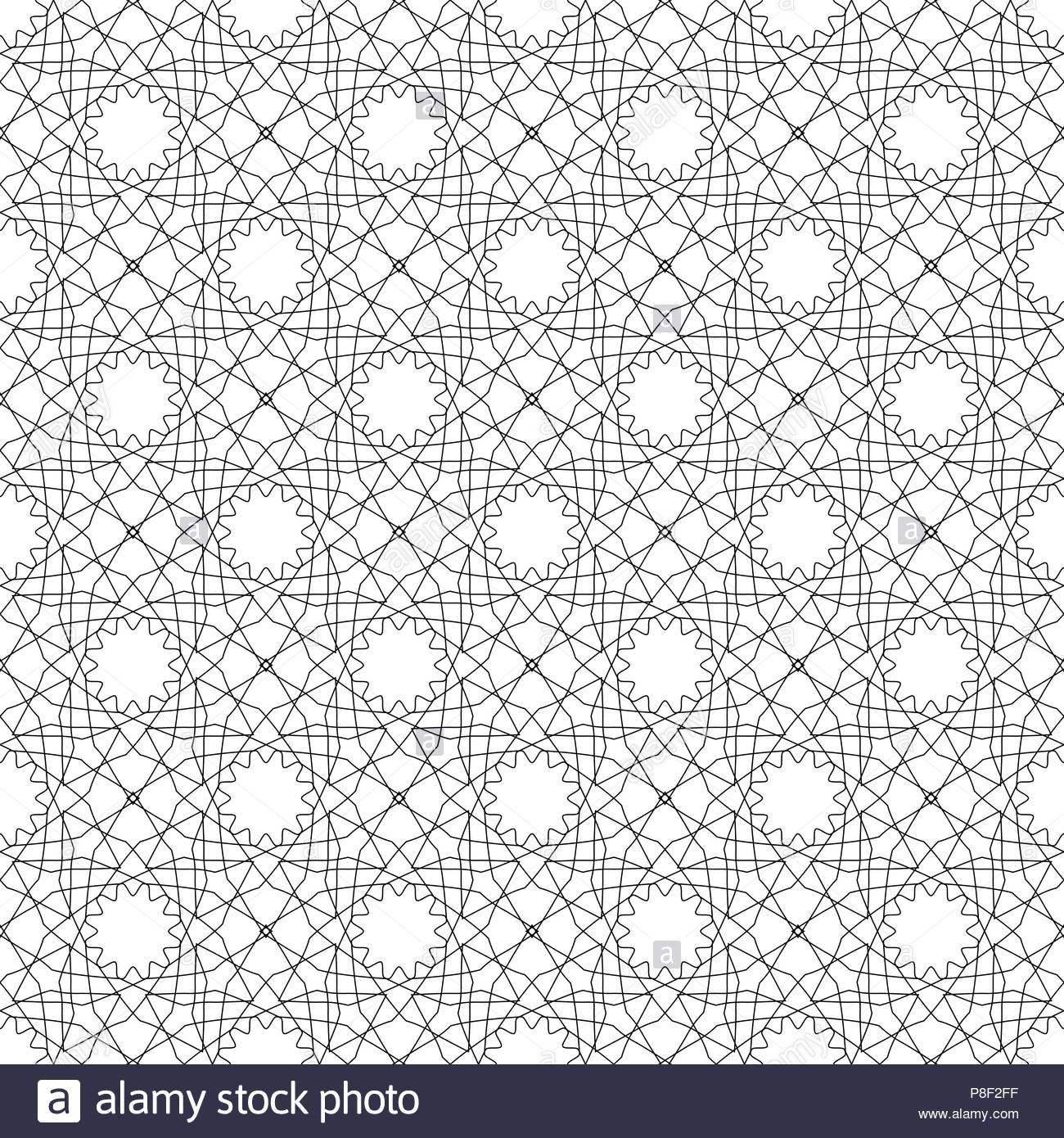 Simular texture with linear geometric ornaments. Stock Vector