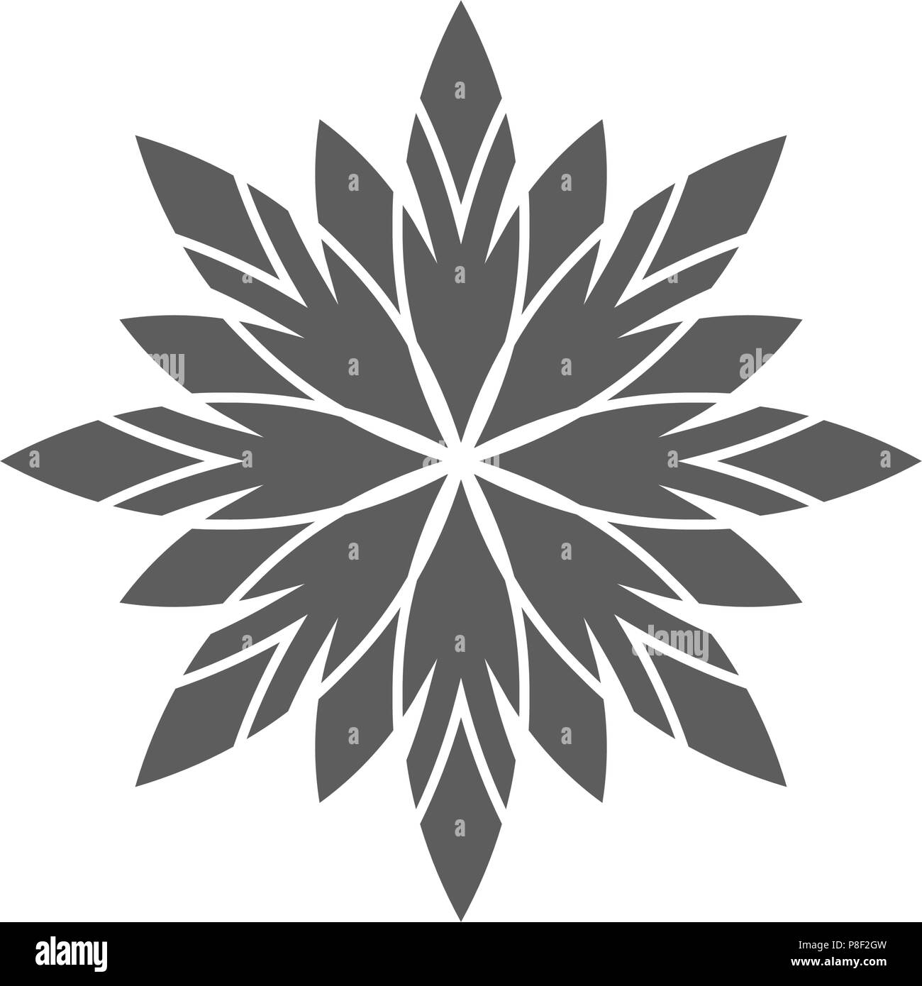 Circular geometrical ornament. Stock Vector