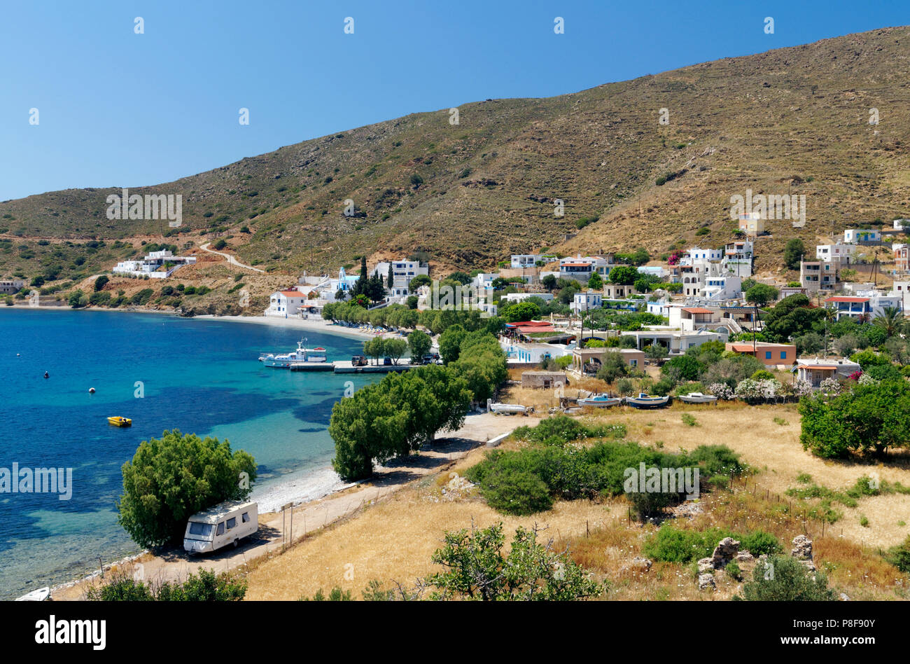 Emborios, Kalymnos or Kalimnos, Dodecanese Islands, Greece. - Stock Image