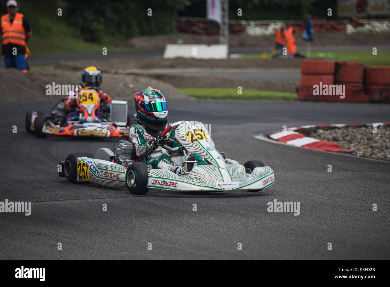 xc30 junior and ok junior Go Kart Racer on the Track, Swiss