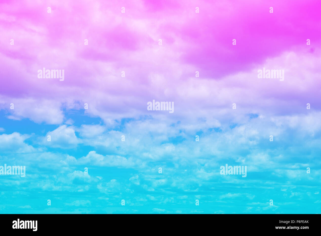 Pastel Summer Neon Gradient: Sweet Pastel Colored Cloud And Sky With Sun Light, Soft