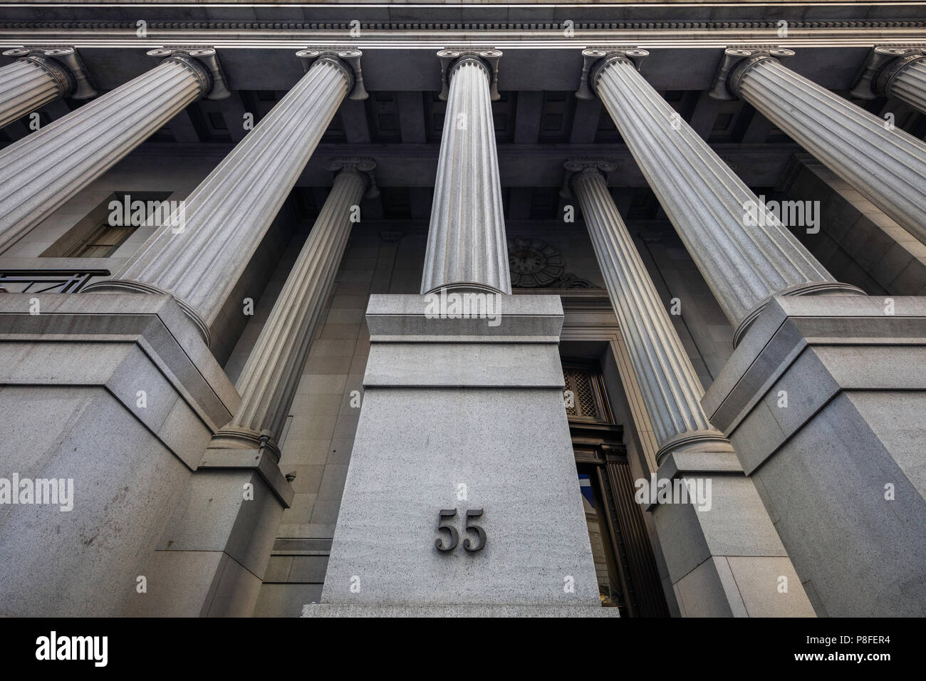 National City Bank Building, 55 Wall Street, New York City - Stock Image