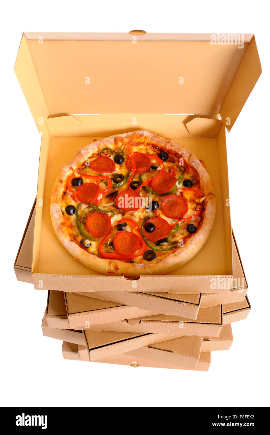 Pile Of Pizza Boxes Stock Photos Pile Of Pizza Boxes Stock