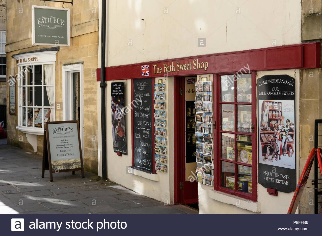 The Bath Sweet Shop, Bath, Somerset, England, UK Stock Photo