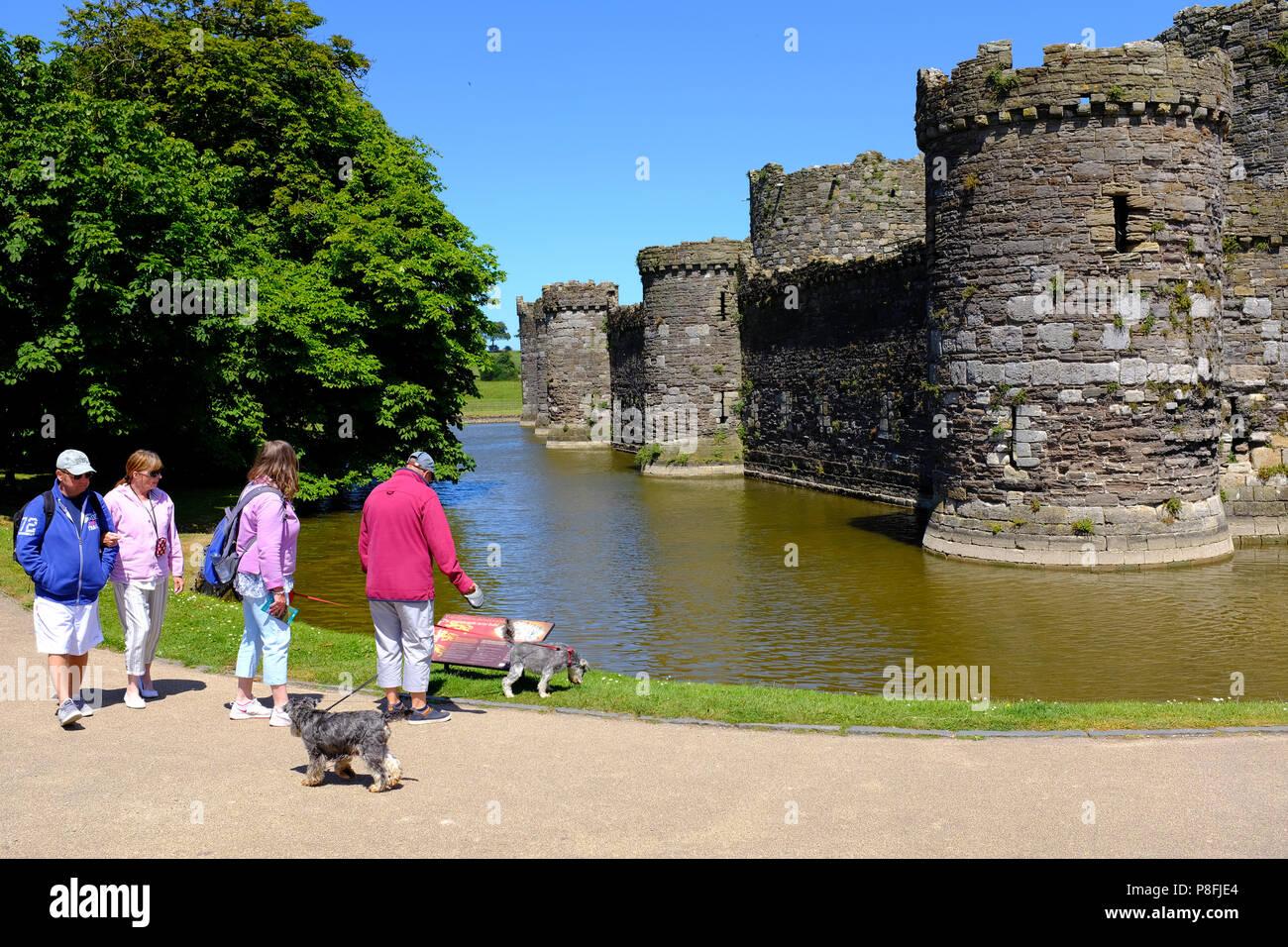 Beaumaris Castle, Beaumaris, Anglesey - Stock Image