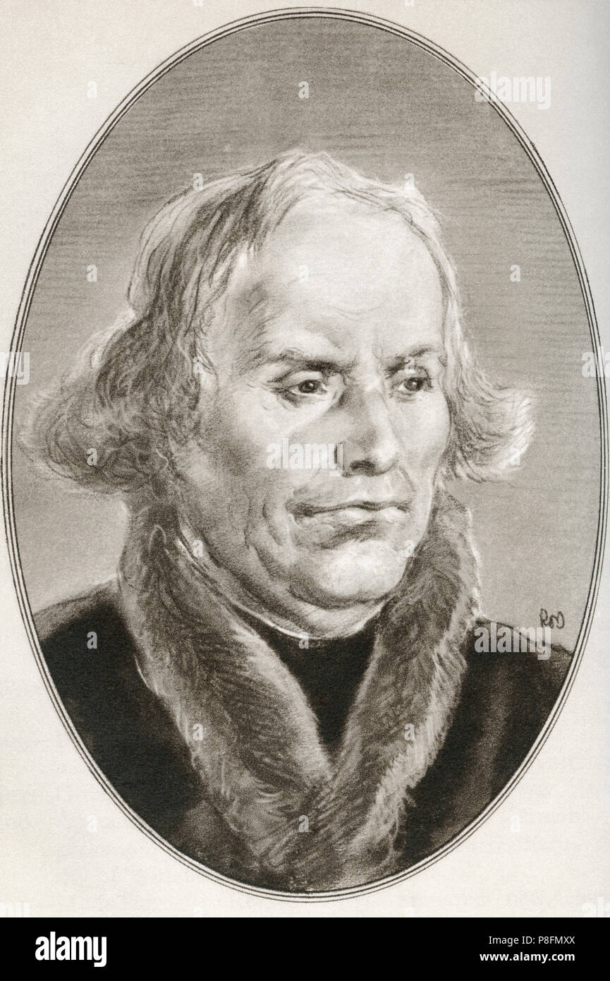 Martin Luther, 1483 - 1546.  German professor of theology, composer, priest and monk.  Illustration by Gordon Ross, American artist and illustrator (1873-1946), from Living Biographies of Religious Leaders. - Stock Image