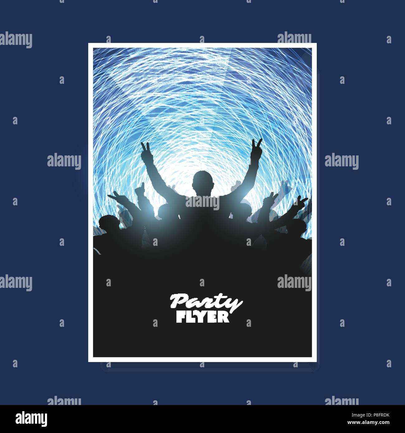 dark concert crowd silhouette nightlife abstract colorful party