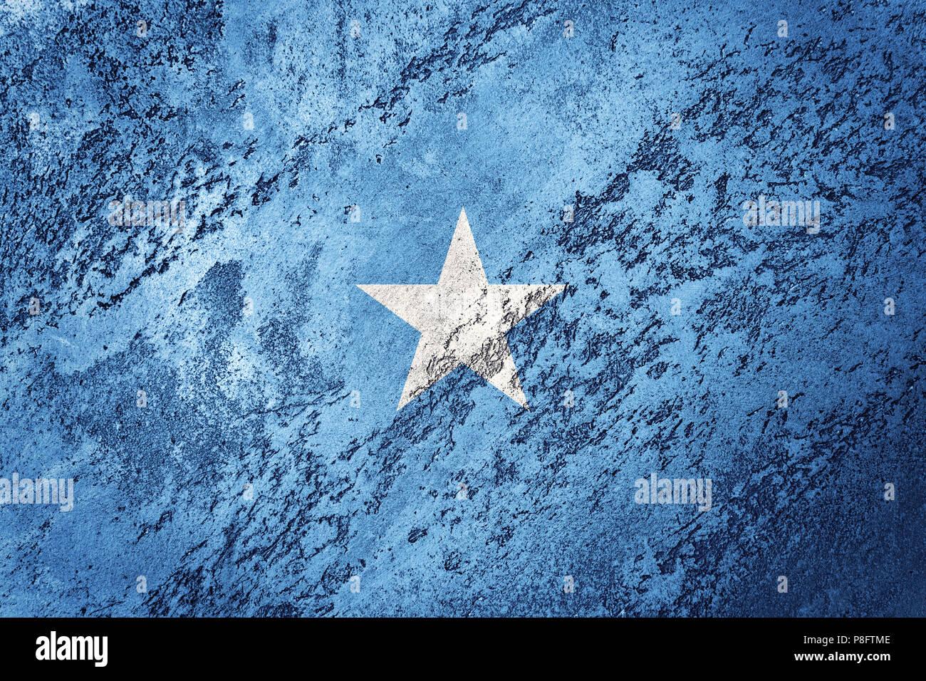 Grunge Somalia flag. Somalia flag with grunge texture. - Stock Image