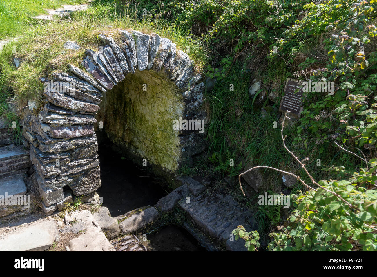 St. Non's Well, St. Non's Bay near St Davids, Wales - Stock Image
