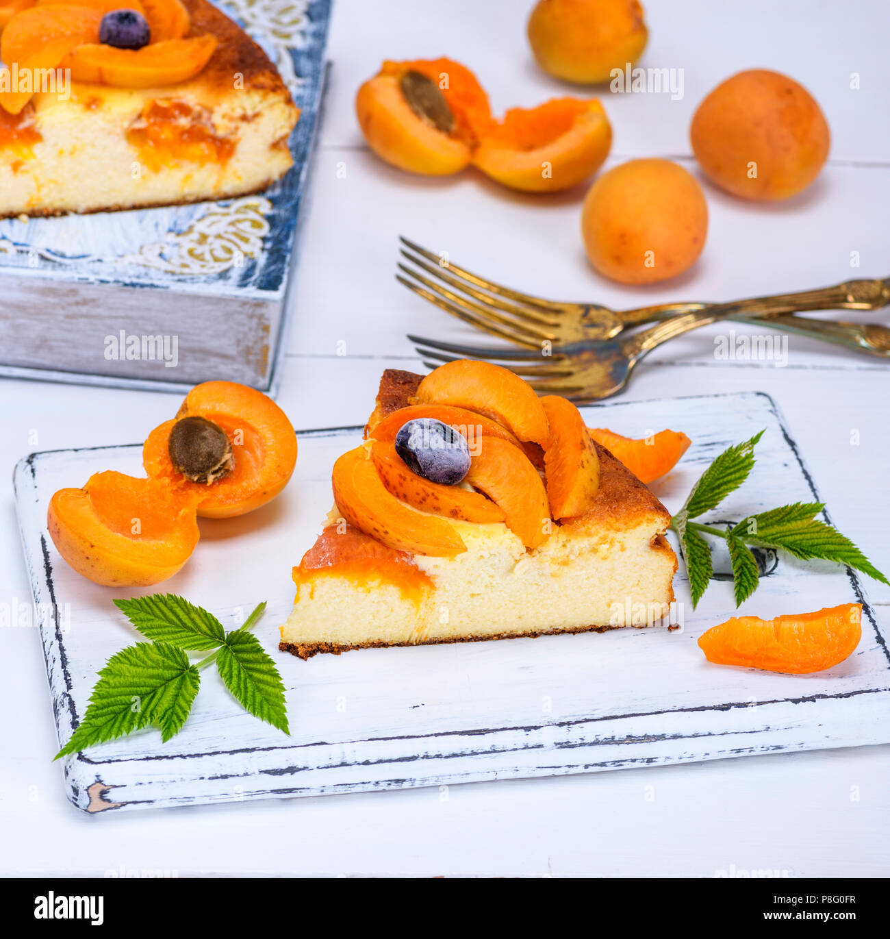 Cake with apricots and cottage cheese: recipe