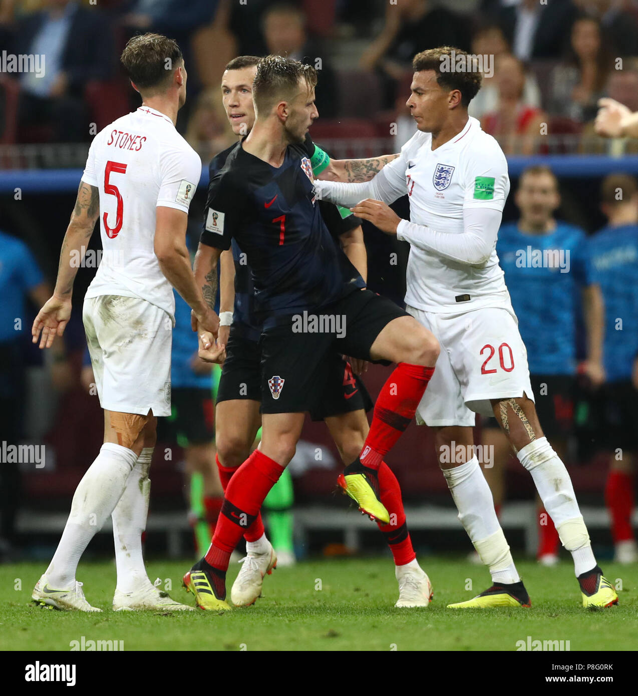 best loved b94c7 33af0 England's Dele Alli (right) argues with Croatia's Ivan ...