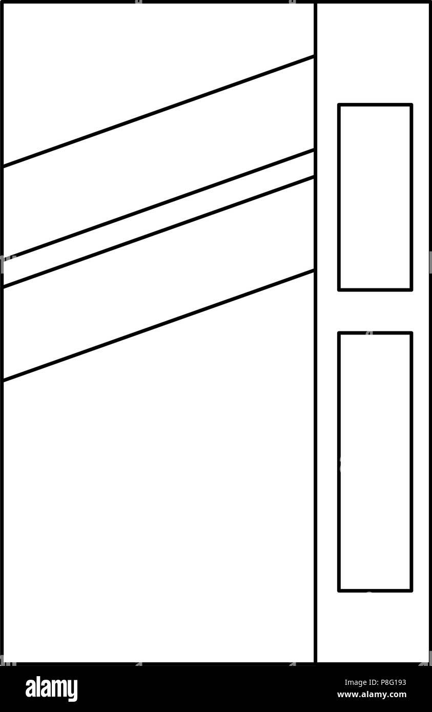 fllour box carton packing - Stock Vector