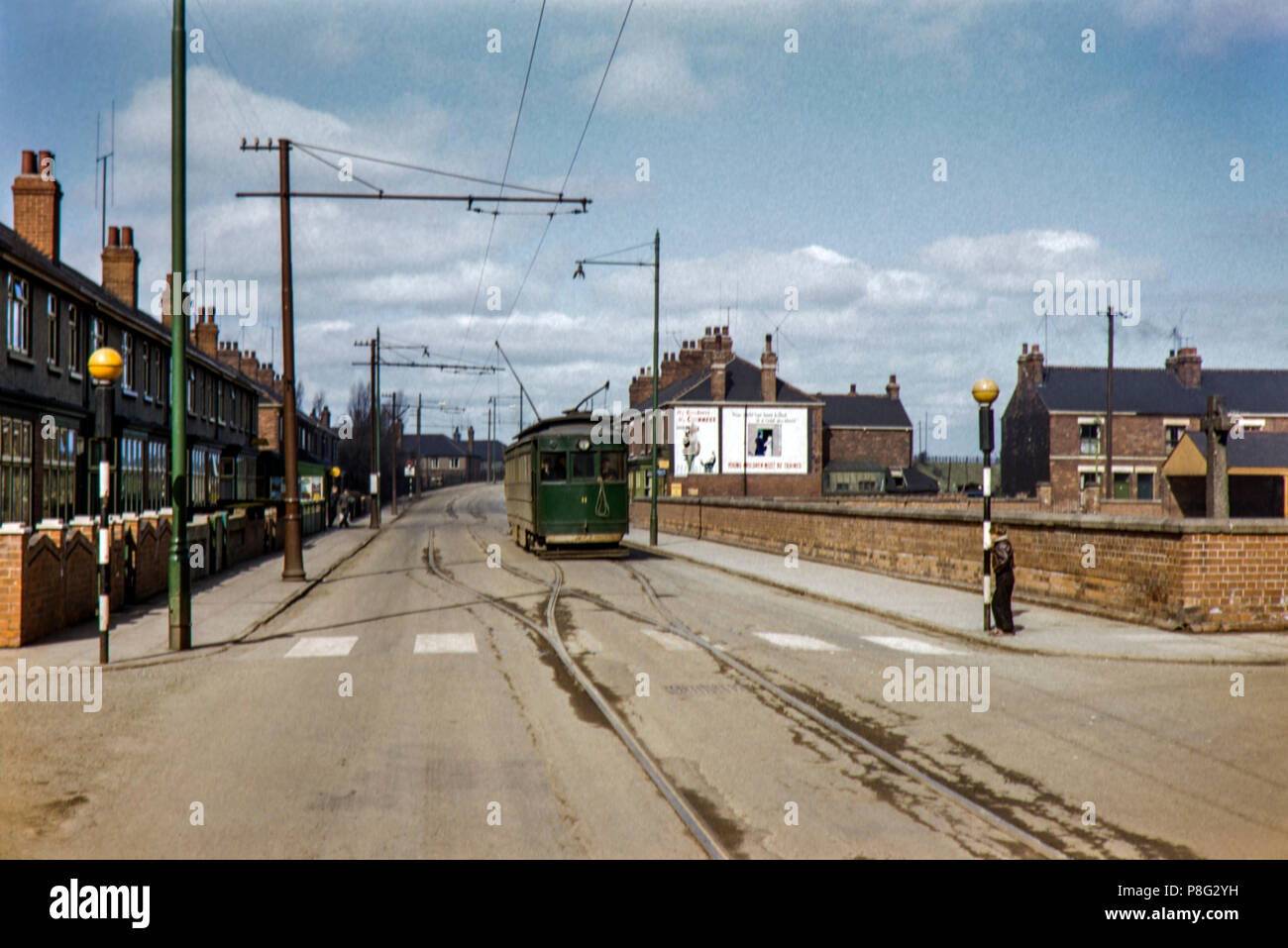 Grimsby and Immingham Light Railway tram no. 11 Image taken in April 1956 - Stock Image