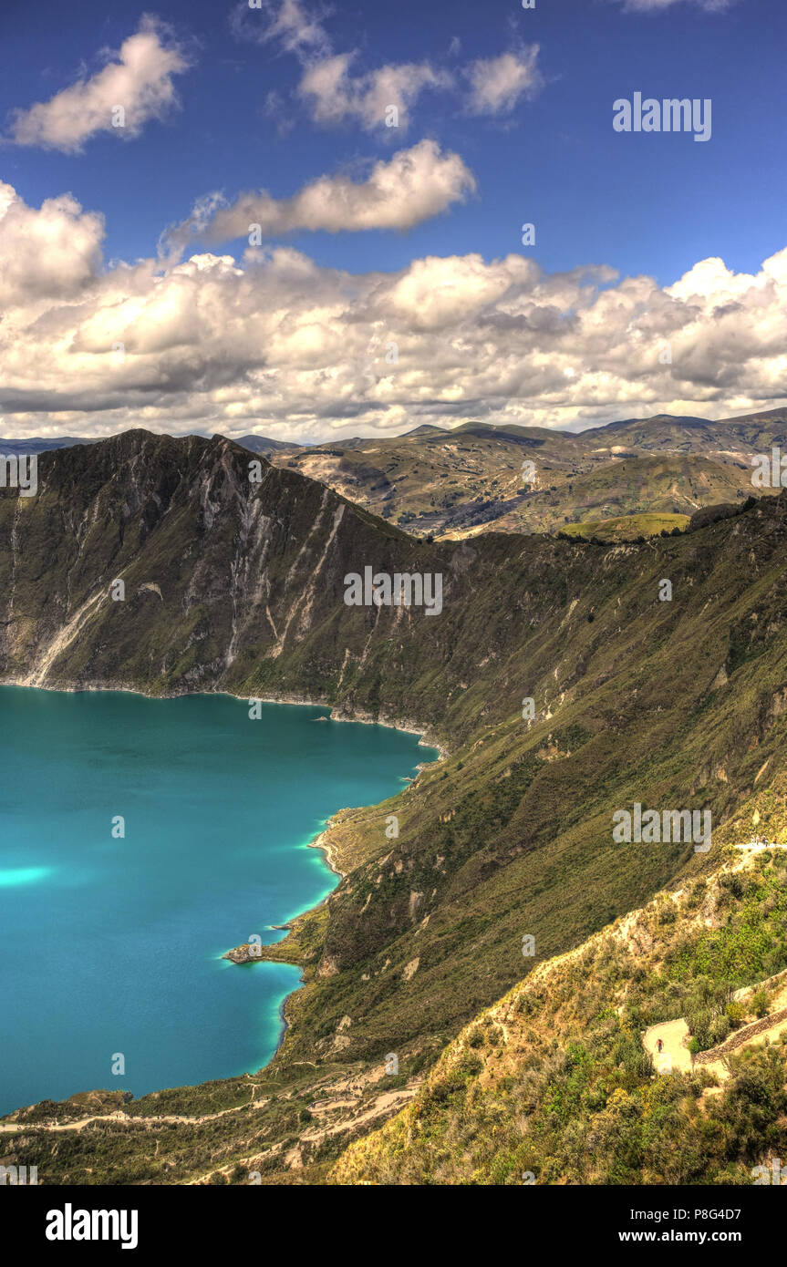 Quilotoa Crater Lake, Ecuador - Stock Image