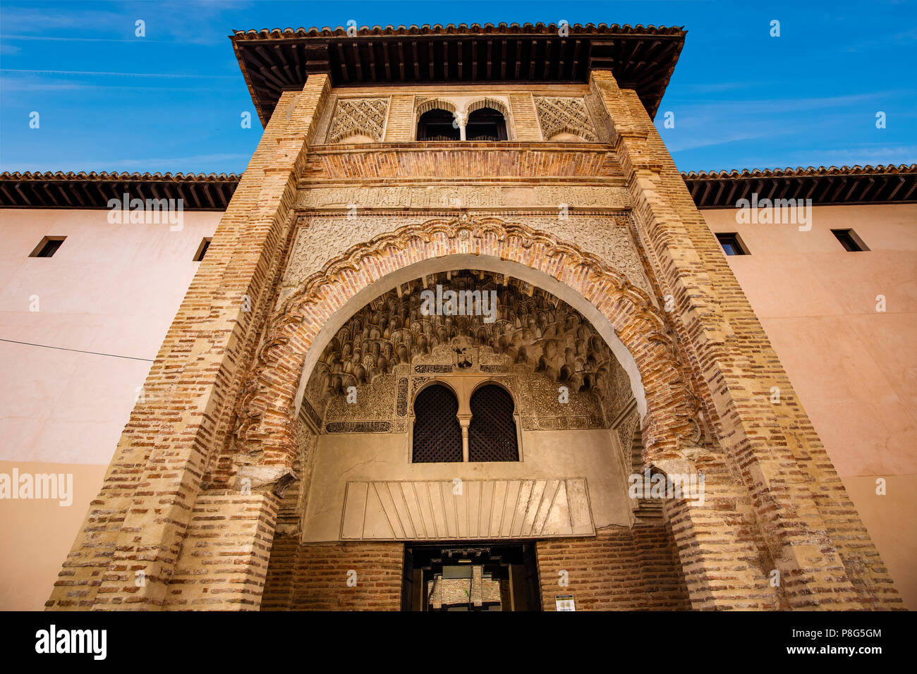Corral de Carbón, old wheat market 14th century. Granada City. Andalusia, Southern Spain Europe Stock Photo