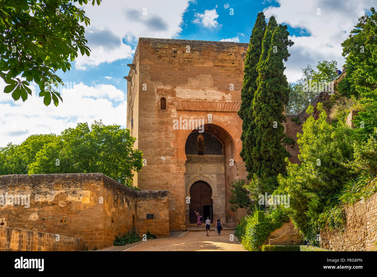 Puerta de la Justicia. Gate of Justice. Alhambra, UNESCO World Heritage Site. Granada City. Andalusia, Southern Spain Europe Stock Photo