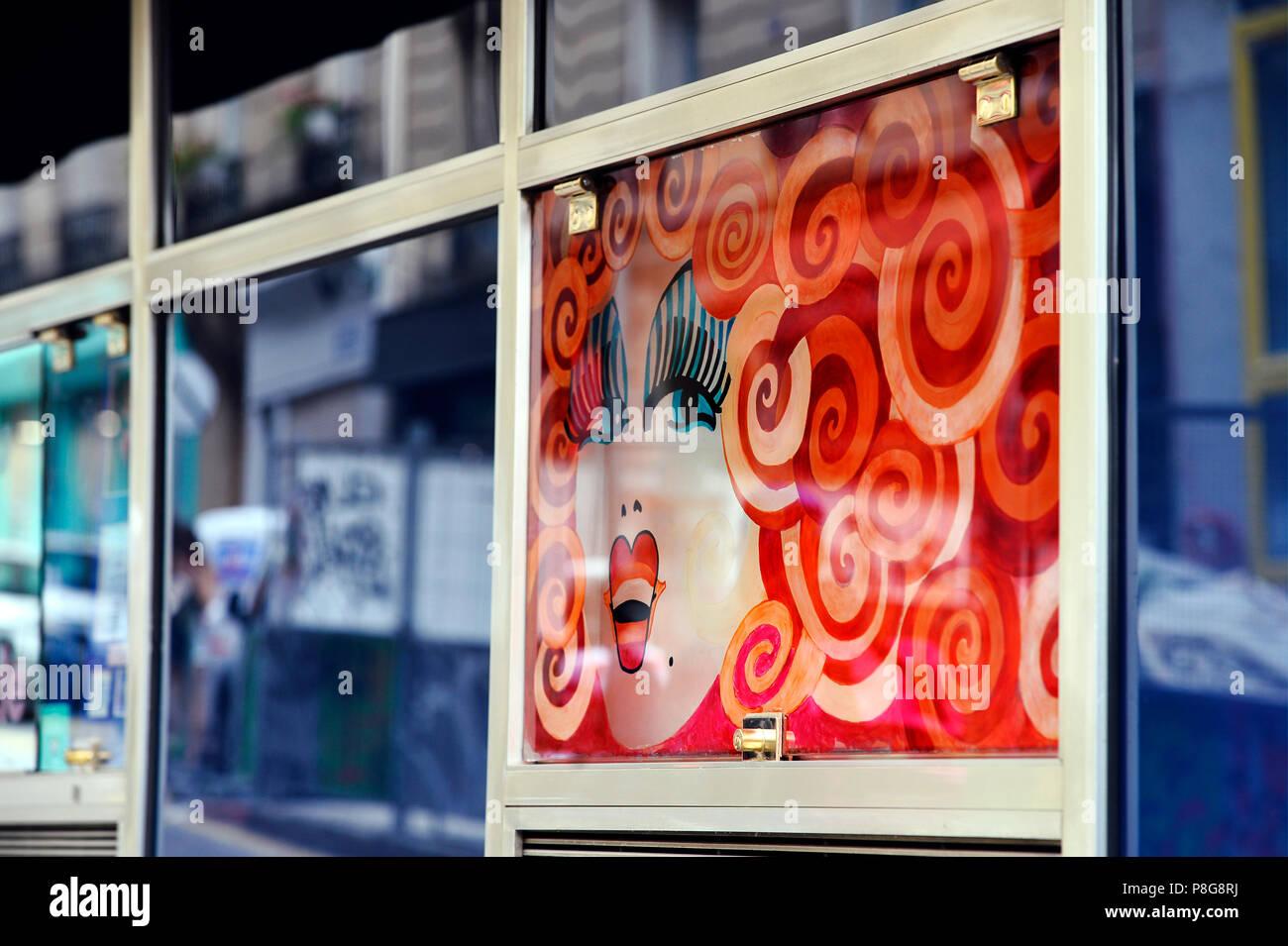 Chez Michou Cabaret - Rue des Martyrs - Paris - France - Stock Image
