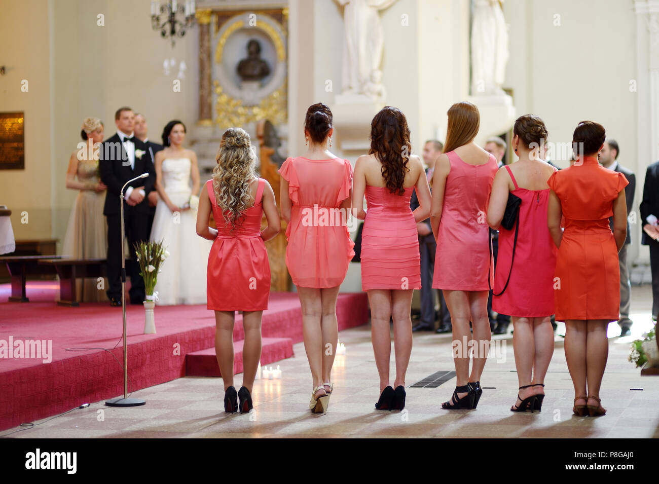 Coral And White Wedding Stock Photos & Coral And White Wedding Stock ...