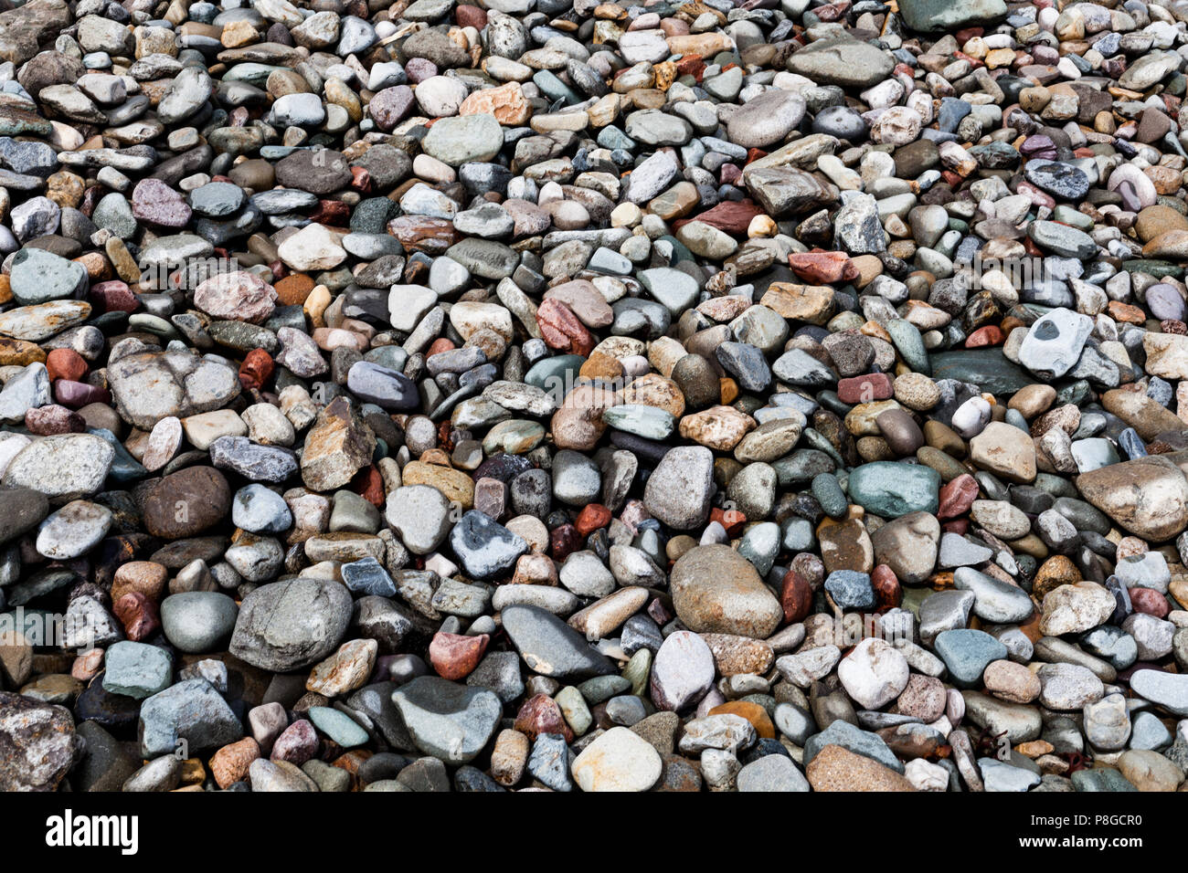 Pebbles for decorating the backyard. Decoration for the backyard ...