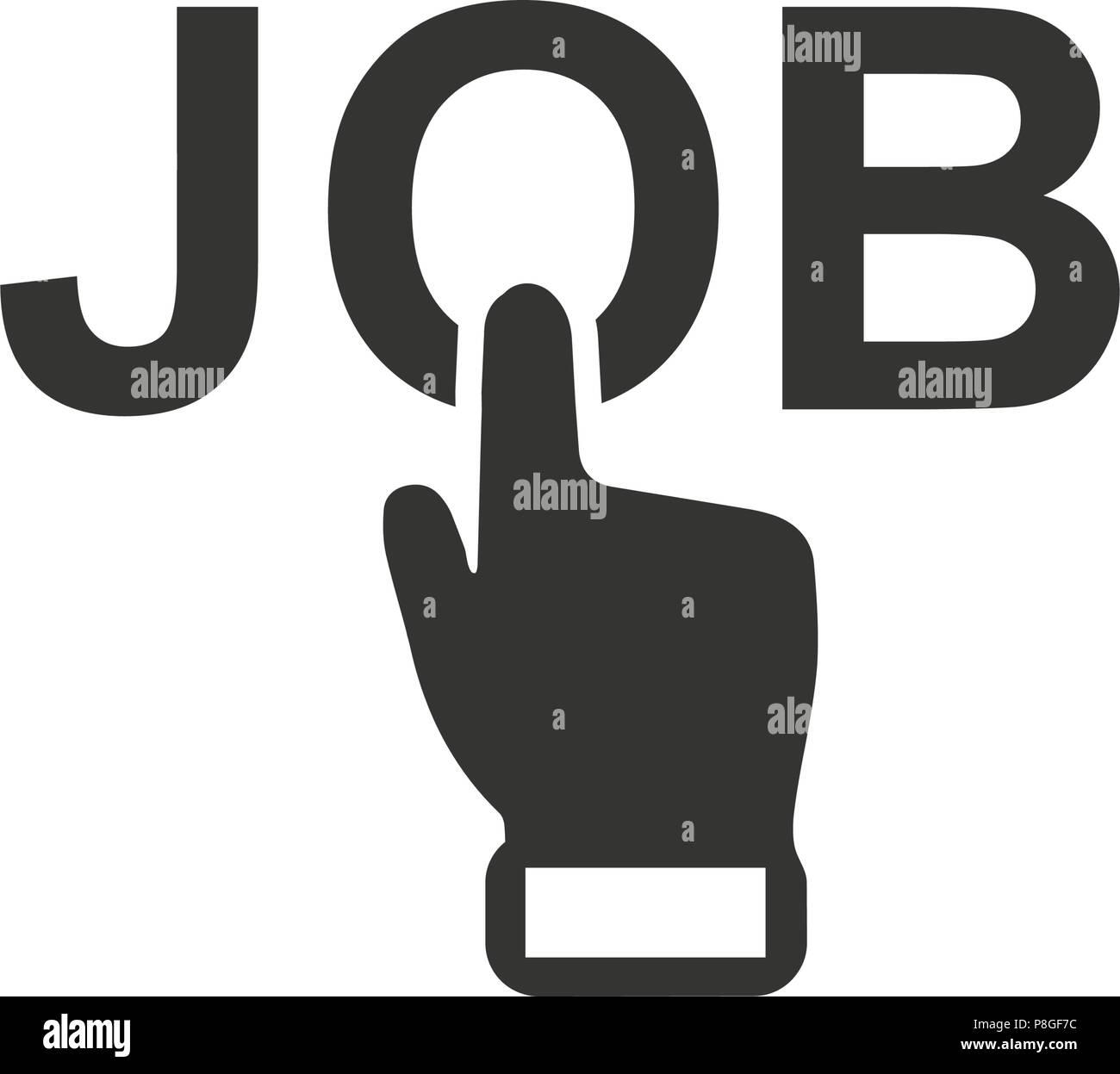 Online Job Apply Icon - Stock Image