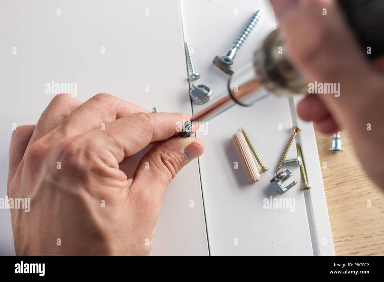 furniture assembly parts - Stock Image