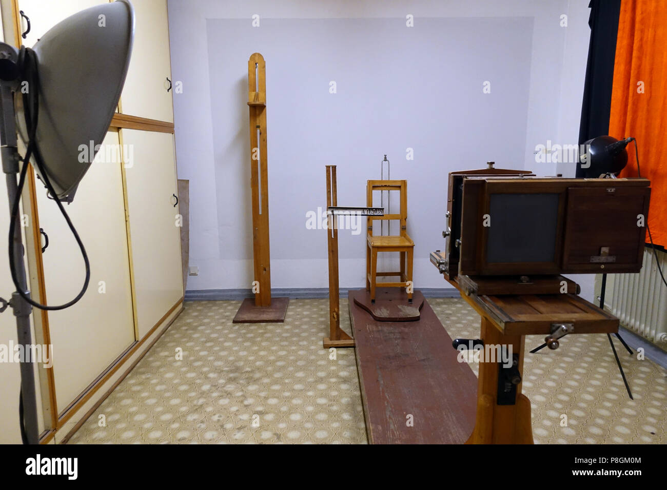 Berlin, Germany, space for identification measures in the Berlin Stasi Museum - Stock Image