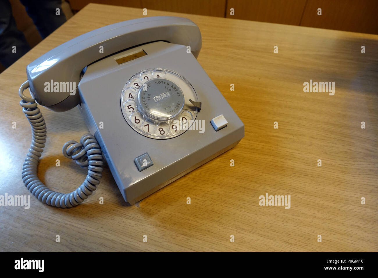 Berlin, Germany, dial telephone of the brand Variant in the Stasimuseum Berlin - Stock Image