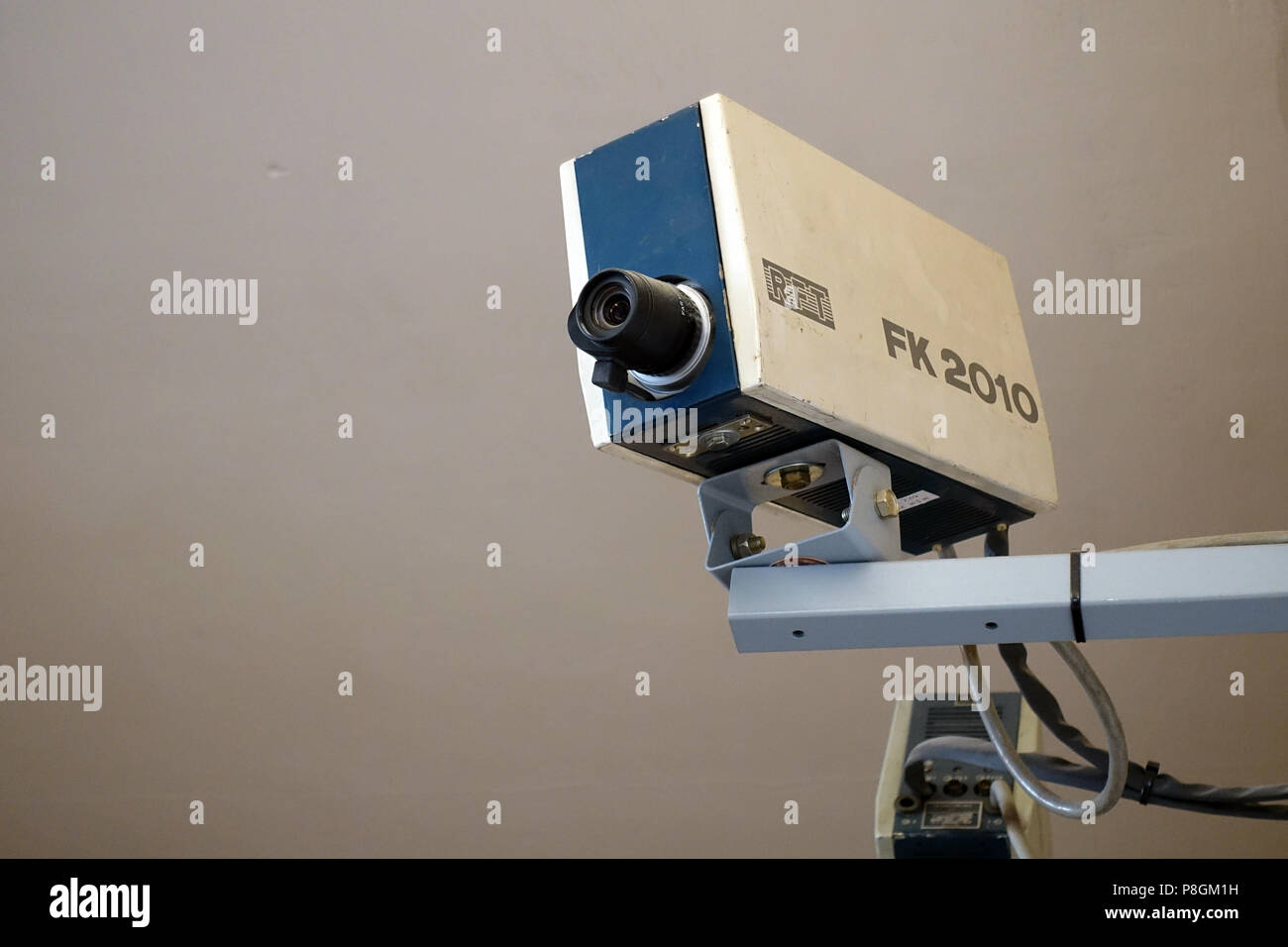 Berlin, Germany, surveillance camera in the Stasi Museum Berlin Stock Photo