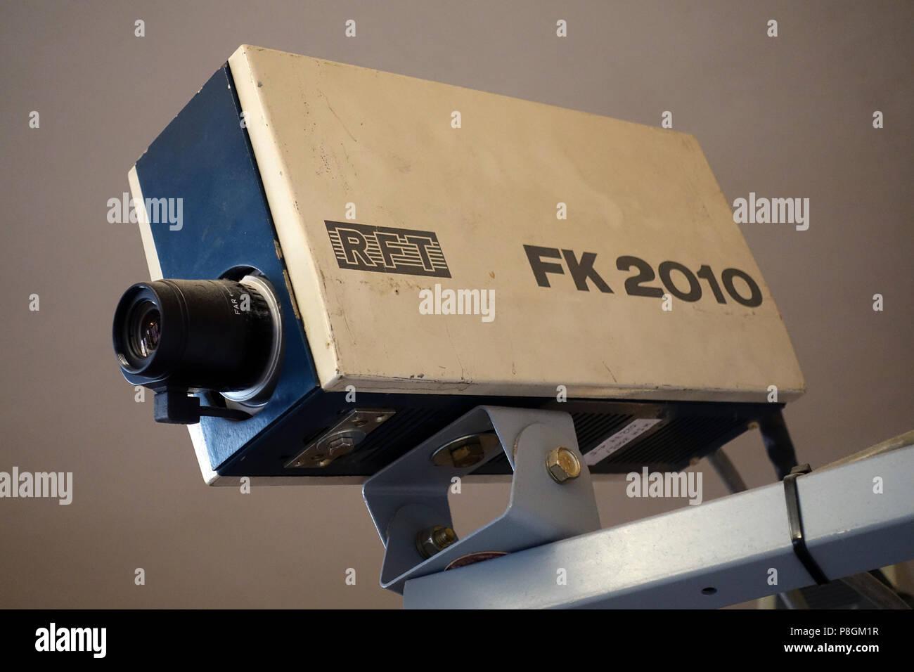 Berlin, Germany, surveillance camera in the Stasi Museum Berlin - Stock Image