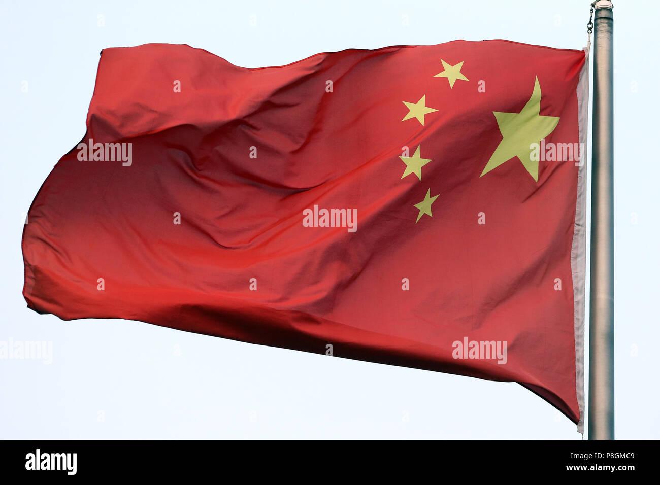 Hong Kong, China, National flag of the People's Republic of China - Stock Image