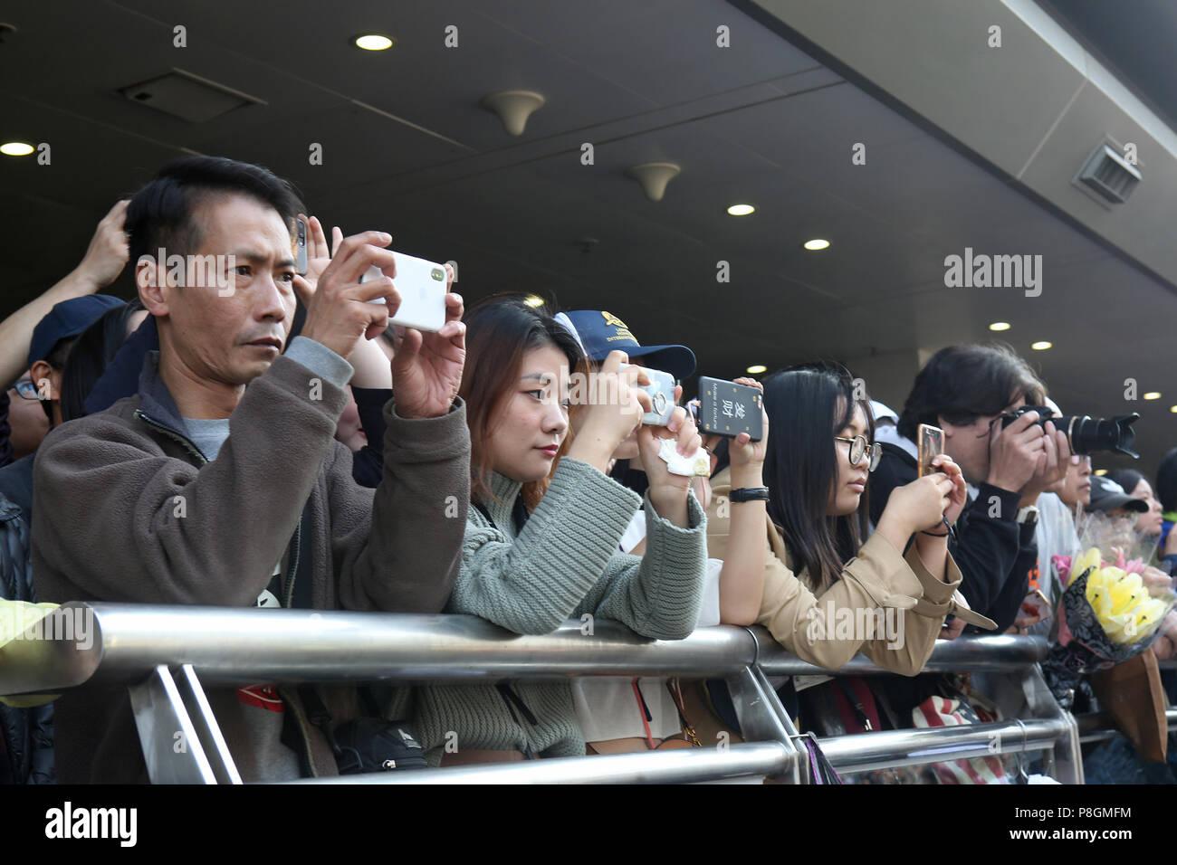 Hong Kong, China, Asians photograph with their smartphones - Stock Image