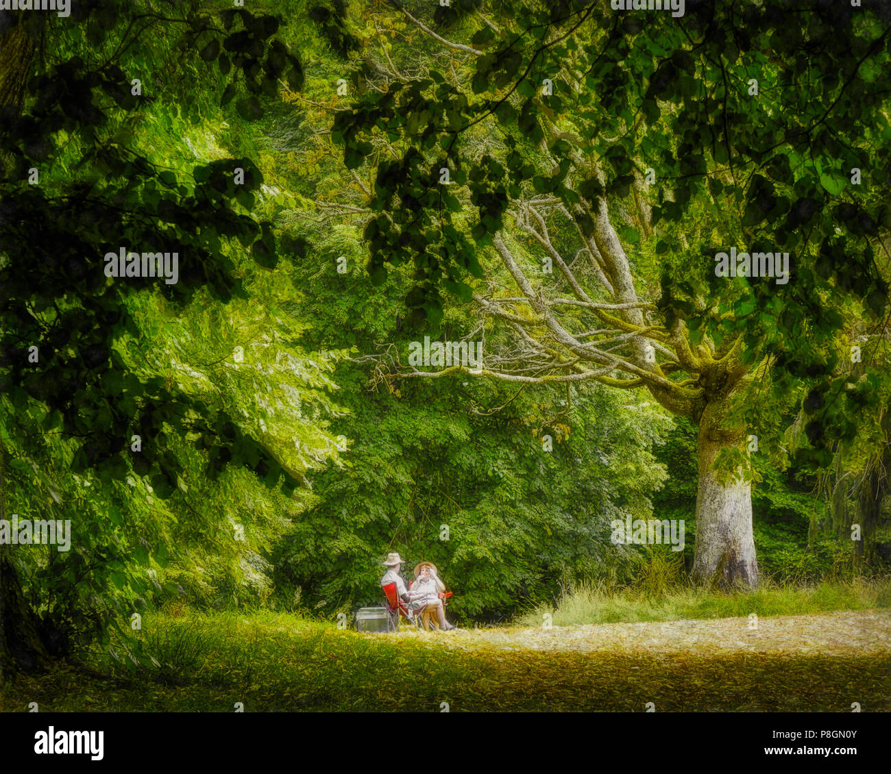 Picnic Park Painting Stock Photos & Picnic Park Painting ...