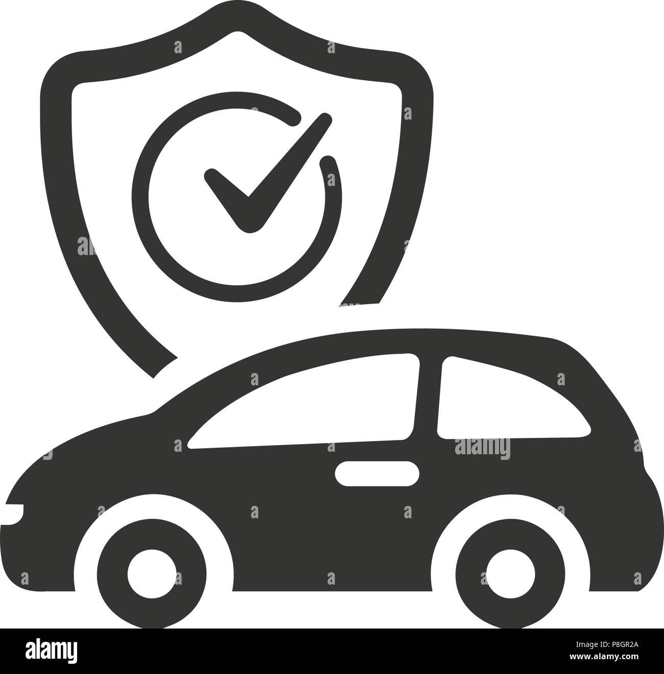 Auto Insurance Icon Stock Vector Art Illustration Vector Image